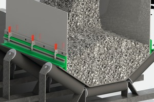 Dust seal adapts to the trough of the belt<br />
