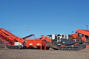 Ausrüstungen von Sandvik in den Barrack-Hill-Steinbrüchen • The range Sandvik equipment at Barrack Hill Quarries