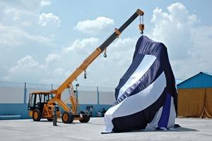 Eröffnung des ersten Werks von CDE Asia im Jahr 2007 • Opening of the first CDE Asia factory in 2007<br />