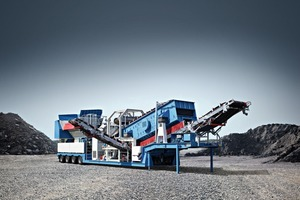 """<div class=""""bildtext"""">3&nbsp; The MBGR&nbsp;2000 mobile granulator from Benninghoven breaks asphalt into its constituent parts without destroying the original grain structure, handling blocks with an edge length of up to 1.8&nbsp;m</div>"""