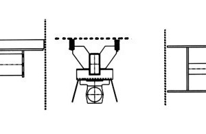 Diagram of a drive traverse excited by balancing weights of the screening machine, type Fine-Line, from HAVER &amp; BOECKER<br />