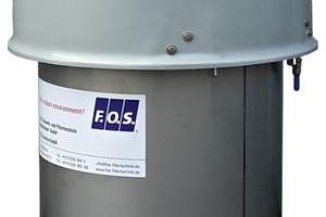 2 The silo vent filter SAF-20 from F.O.S. with a filter surface of 20 m² is suitable for different bulk solid silos