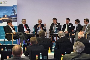 "<div class=""bildtext"">4 Participants of the panel discussion (from the left): Thilo Boss, business journalist and presenter, Berlin; Dr.-Ing. Stefan Mann, President of the Association of Mining, Geology and Environment e.V., Berlin; Prof. Dr. –Ing. Dr. h. c. mult. Friedrich Wilhelm Wellmer, President of the BGR a. D., Hanover; Dr. Peer Hoth, Head of Division in the Federal Ministry for Economic Affairs and Energy; Frank Berger, Managing Director of Graphit Kropfmühl GmbH, Hauzenberg; Sebastian Schiweck, Wirtschaftsvereinigung Metalle e. V., Berlin and Dr. Leopold von Carlowitz, Consultant GIZ GmbH<br /> </div>"