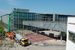 Building work in progress on the northwest entrance to the Munich trade fair grounds<br />