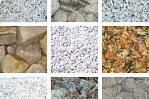 2 Mit MSort sortierte Mineralien # Minerals sorted by means of the MSort