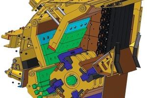 """<span class=""""bildunterschrift_hervorgehoben"""">1</span><strong></strong>Querschnitt der Brecheinheit • Cross-section of the crusher unit"""