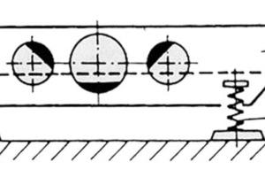"""<span class=""""bildunterschrift_hervorgehoben"""">15</span>Schema einer Ellipsenschwingsiebmaschine mit dreifachem Wuchtmassenantrieb<br />"""
