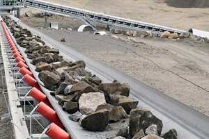 """<div class=""""bildtext"""">Following the first crushing stage with the jaw crusher C150, conveyor systems transport the basalt material to the secondary and tertiary crushing stage</div>"""