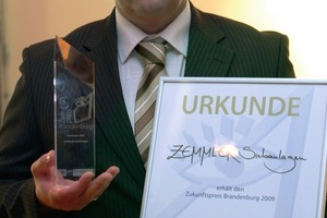 Heiko Zemmler with the certificate <br />