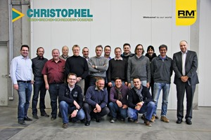 Gruppenfoto während der Schulung im RM Headquarters<br />Group photo during the training course at the RM headquarters