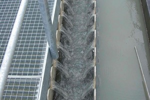 Clean water weir in the LEIBLEIN lamella separator<br />