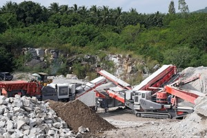 "<div class=""bildtext"">Cost effective production by Sandvik mobile crushing and screening plants at Tabsakae Granite Co.&nbsp;Ltd.</div>"