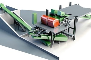 Mineral sorting plant<br />