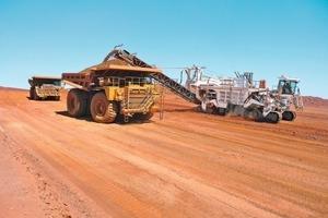 """<span class=""""bildunterschrift_hervorgehoben"""">1</span>Eisenerzabbau in Australien: Maschinenleistung und Service-Support auf höchstem Niveau • Iron ore mining in Australia: Top-of-the-range machine performance and service support<br />"""