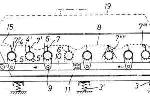 Diagram of the TORWELL screening machine according to the patent of A. Wehner, 1967