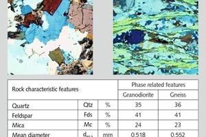 """<div class=""""bildtext"""">4Isotroper Orientierungsgrad (Granodiorit aus Oberottendorf, Gneis aus Oberschöna) • Isotropic orientation (granodiorite from Oberottendorf, gneiss from Oberschöna)</div>"""