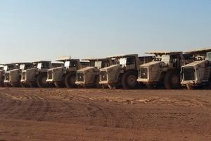 "<div class=""bildtext"">50&nbsp;Terex Trucks rigid dump trucks in operation in phosphate mines in Jordan</div>"