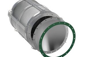 """<div class=""""bildtext"""">Q-Rohr mit integrierter Berstscheibe, Signalisierung und Dichtung # Q-Rohr with integrated bursting disc, signalling unit and gasket </div>"""