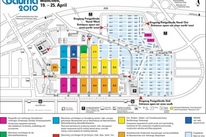 Provisional exhibition grounds map for bauma 2010<br />