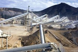 Materials preparation equipment in a quarry (Metso Minerals)<br />