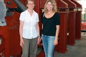 Dipl.-Ing. Katrin Menninger, Senior Project Manager (right/rechts) and/und Helga Wittmers, Senior Sales Manager, MBE Coal &amp; Minerals Technology GmbH, Köln/Germany<br />