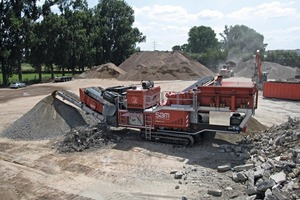 Die mobile Brech- und Siebanlage REMAX 1312 MAXI bei Recom in Belgien • The mobile crushing and screening plant REMAX 1312 MAXI at Recom in Belgium<br />