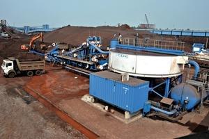 """<span class=""""bildunterschrift_hervorgehoben"""">1</span>M2500 und AquaCycle für die Eisenerzwaschanlage von Bhushan • Bhushan M2500 and AquaCycle on iron ore washing application<br />"""