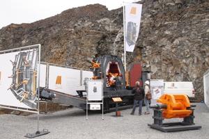 Die Prall-Tec GmbH präsentierte eine semimobile Prallmühle PTKS 100/67<br />