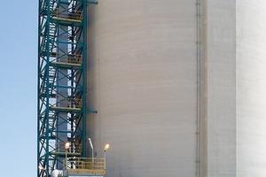 Vertical elevation to silo storage<br />