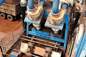 """<span class=""""bildunterschrift_hervorgehoben"""">2</span>Integrierte Eisenfeinerzwaschanlage auf der M2500 der Bhushan Power &amp; Steel • Bhushan iron ore fines washing plant on M2500<br />"""