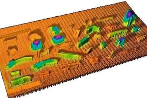 Colour sensor image of the line sensors<br />