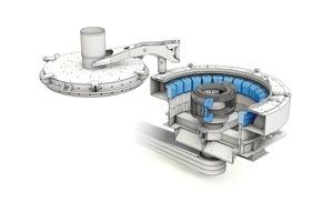 """<span class=""""bildunterschrift_hervorgehoben"""">1a)</span>BHS Rotorschleuderbrecher vom Typ RSMX mit Ringpanzerung BHS rotor centrifugal crusher of type RSMX with anvil ring"""