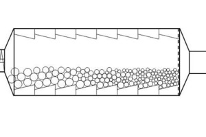 Schematic of ball classifying along the grinding track in a tumbling mill<br />