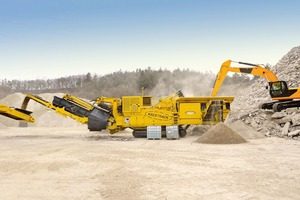 "<div class=""bildtext"">The leading model of Keestrack's crusher unit series R8 is also available with the economical and environmentally friendly hybrid-drive packages ECO-EP and ECO EP+</div>"