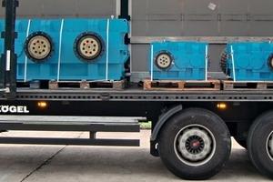Getriebe fertig zum Transport • Gears ready for transport<br />