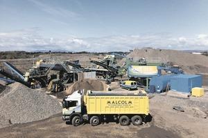 1 C&D Recyclinganlage von CDE Global im Steinbruch- und Abfallentsorgungsbetrieb Shewalton in Irvine/Schottland # C&D waste recycling plant from CDE Global at Shewalton Quarry & Waste Management facility in Irvine/Scotland