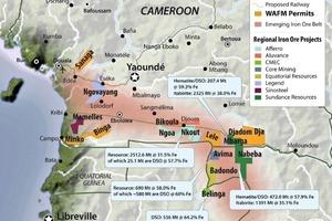 9 Eisenerzgürtel in Kamerun • Iron ore belt in Cameroon<br />