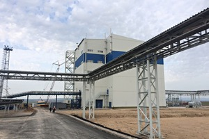 1 The EuroChem plant in Zhanatas where LOESCHE technology helps to produce phosphate fertilizers