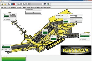 "<div class=""bildtext"">Linked to the Relytec controls of Keestrack machines, the new GSM/UMTS supported machine remote monitoring enables real-time transfer of key machine parameters</div>"