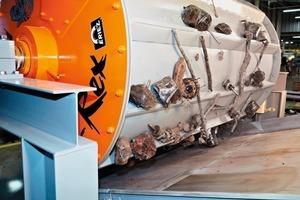 Schrotttrommel mit Dauermagneten vom Typ P-Rex für Magnetabscheidung # P-Rex permanent magnetic scrap drum for magnetic separation