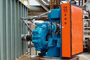 2 Primärpumpe für Sandschlamm in einer Anlage für Zuschlagstoffe # Primary sand slurry pump in an aggregate plant