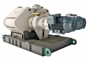 """<span class=""""bildunterschrift_hervorgehoben"""">1</span>Eine ausgezeichnete Energieeffizienz ist eine Hauptmerkmal der neuen Gutbettwalzenmühle HRC<sup>TM</sup> • Excellent energy efficiency is one of the key features with the new HRC<sup>TM</sup> high pressure grinder<br />"""