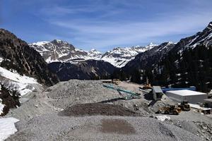 1Bau des Pumpspeicherkraftwerks Obervermuntwerk II der Vorarlberger Illwerke AG mit eigenem Kieswerk und Leiblein-Wasseraufbereitung <br />