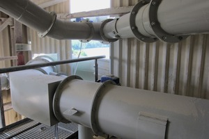 4 Pipe group from a combination dedusting system