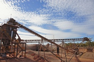 22 Erzbrecher in Lady Annie Kupfermine in Australien # Ore crusher in Lady Annie copper mine in Australia<br />