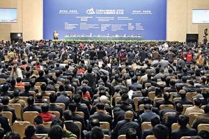 """<span class=""""bildunterschrift_hervorgehoben"""">1</span>Teilnehmer während der CHINA MINING Konferenz 2012 • Delegates during the CHINA MINING conference 2012"""