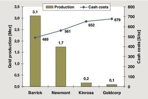7 Benchmark der Goldproduzenten (2010) in Nevada # Benchmark of gold producers (2010) in Nevada<br />