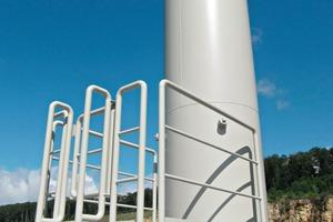 9 Cleaned-gas stack, showing measuring platform