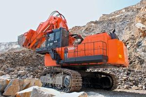 Hitachi Hochlöffel-Bagger EX1200-6 LD – höchste Produktivität für effizienten Einsatz • Hitachi face shovel EX1200-6 LD – maximum productivity for efficient use<br />