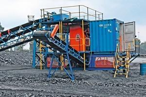 3 Sortieranlage PRO Secondary XRT in einem südafrikanischen Kohlebergwerk • PRO Secondary XRT sorter in a South African coal mine